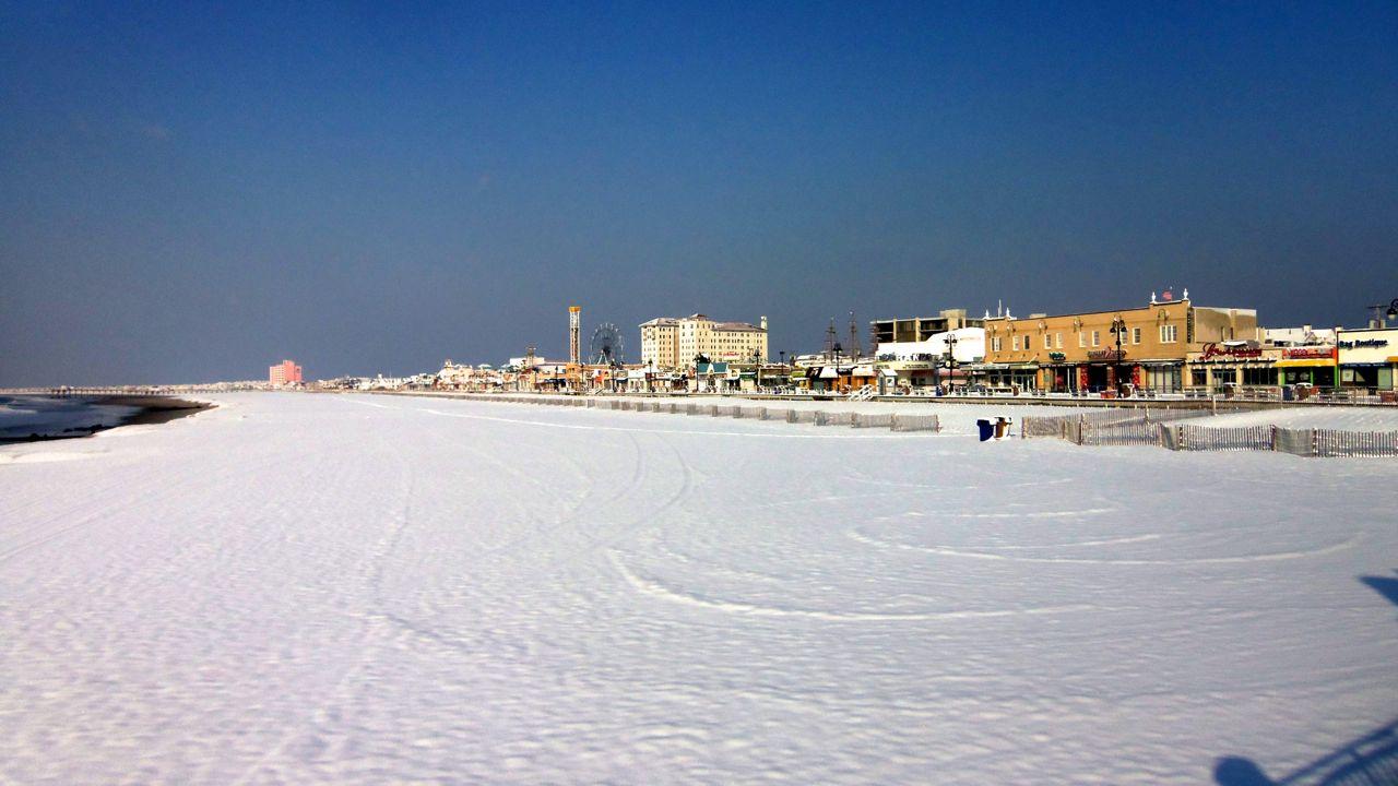 Snow In Ocean City Nj