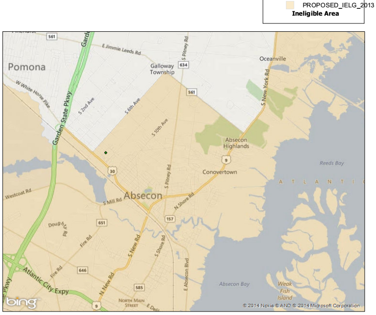 USDA Financing Changes Areas Of Eligibility For Galloway Township - Map of usda approved areas